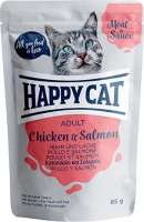 Happy Cat Meat in Sauce Adult Chicken & Salmon 85 g