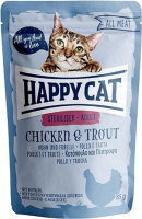 Happy Cat All Meat Adult Sterilised Chicken & Trout 85 g
