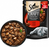 Sheba Craft Collection juicy Slices with Beef in Gravy 85 g