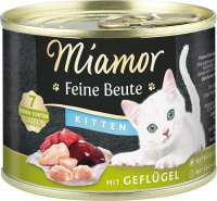 Miamor Feine Beute Kitten with Poultry, Grain-free 400 g, 185 g