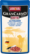 Animonda GranCarno Exotic with Guinea-Fowl 125 g