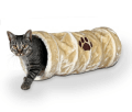 Cat playing tunnels and cat sack toys