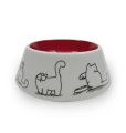 Ceramic pet bowl for cats