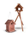 Wild bird houses and feeders