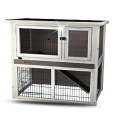 Two storey rabbit cage