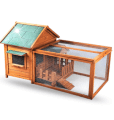 Rabbit cage with top playpen