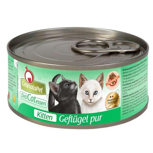 GranataPet DeliCatessen Kitten Gevogelte Puur 6x100 g, 6x200 g