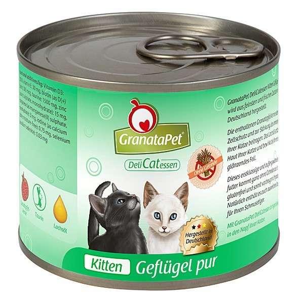 GranataPet DeliCatessen Kitten Gevogelte Puur 6x200 g, 6x100 g