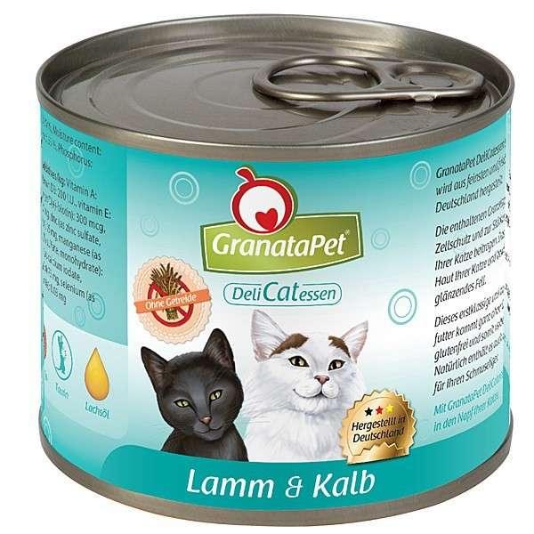 GranataPet DeliCatessen Lamb & Vasikanliha 6x200 g, 6x100 g, 400 g, 6x400 g
