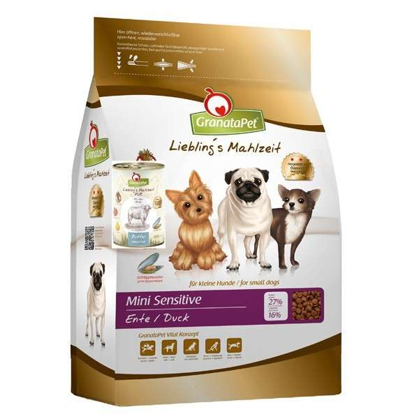 GranataPet Lieblings Mahlzeit Mini Adult Sensitive Duck 2 kg 4260165186346 erfaringer