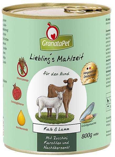 GranataPet Liebling's mahlzeit Kalf en lam 800 g 4260165183925