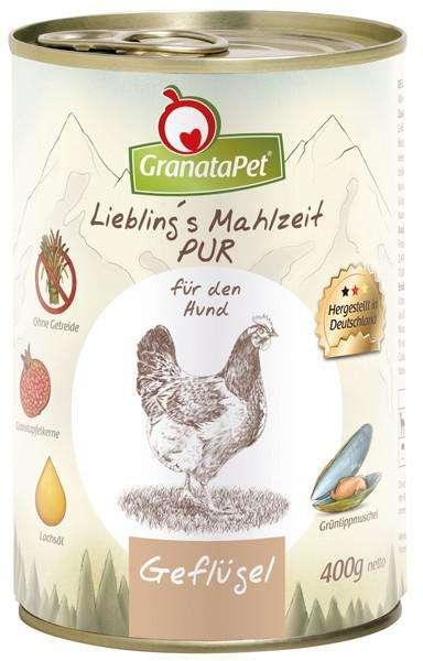 GranataPet Liebling's Mahlzeit PUR Gevogelte 400 g 4260165186070