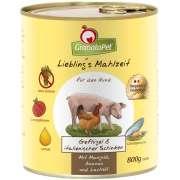 Liebling's Mahlzeit Volaille & Jambon italien, Blette, Ananas et Huile de saumon 800 g