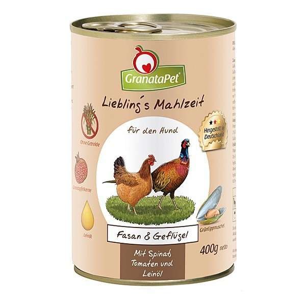 GranataPet Liebling's Mahlzeit Fazant en Gevogelte 400 g