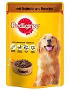 Pouches with Turkey and carrot in sauce Märkäruoka koirille  merkiltä Pedigree. Säästä nyt jopa 80%!