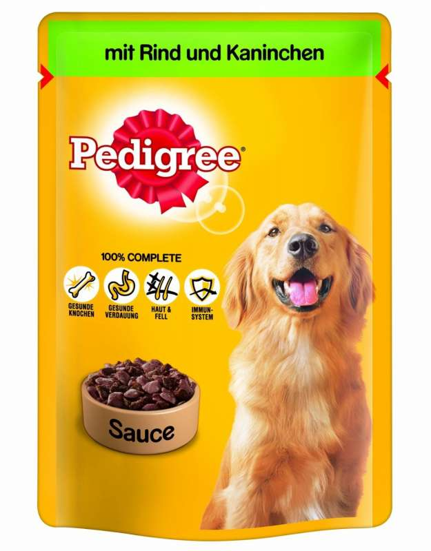 Pedigree Pouches with Beef and Rabbit in sauce 100 g