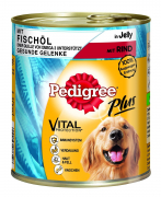 Dose Adult Plus Fish Oil with Beef in Jelly 800 g fra Pedigree