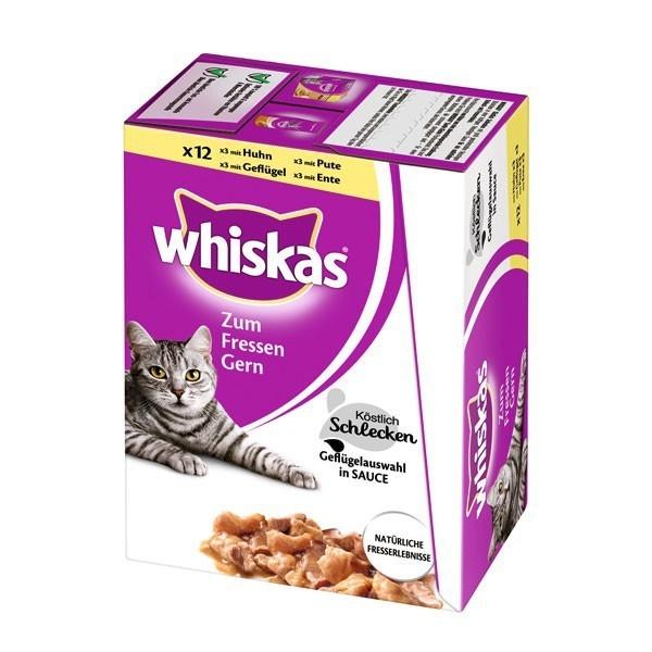 Whiskas Zum Fressen Gern 24er Multipack Heerlijk Likken Gevogelte 24x85 g, 12x85 g
