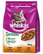 Whiskas   Piensos gatos  : Senior Alimento seco com frango 950g compra barato