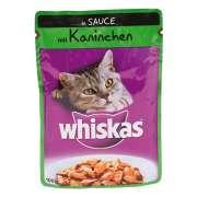 Bolsitas con Conejo en Salsa 100g   Comida en lata para gatos   de Whiskas. ¡Ahorra hasta un 80% ahora!