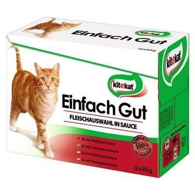 Kitekat 12 - Multipack Vlees selectie in saus 12x85 g