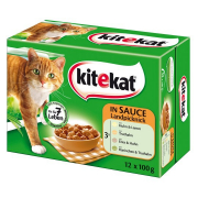 Kitekat Pouches Multipack 12 Landpicknick in Sauce 12x100 g