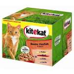 Kitekat 24 Multipack Bonte Viervoud in Saus 24x100 g