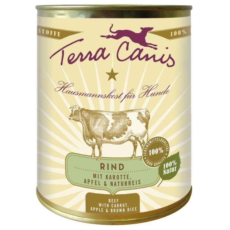 Terra Canis Menu Classic, Vacuno con Zanahoria, Manzana y Arroz Integral 800 g