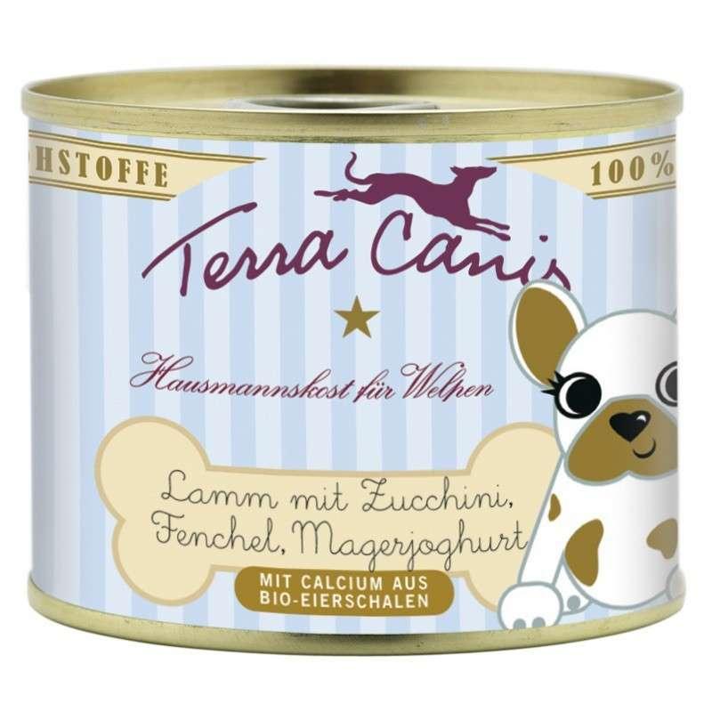 Terra Canis Puppy Menu, Lam met Courgette, Venkel en Magere Yoghurt 200 g 4260109621001