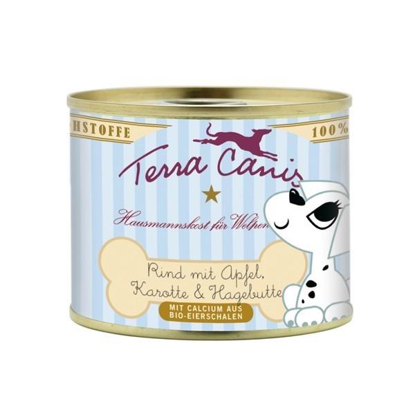 Terra Canis Puppy Menu, Rundvlees met Appel, Wortel en Rozenbottel 800 g, 400 g, 200 g test