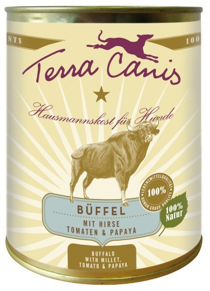 Terra Canis Menu Classic, Buffle, Millet, Tomates & Papayes 800 g