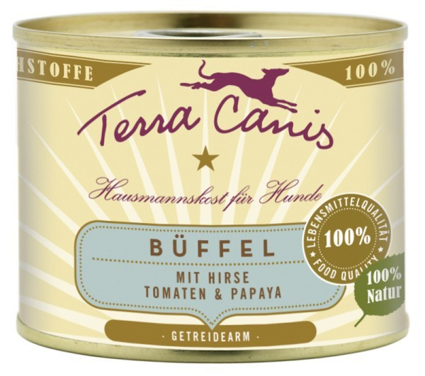 Terra Canis Menu Classic, Buffle, Millet, Tomates & Papayes 400 g