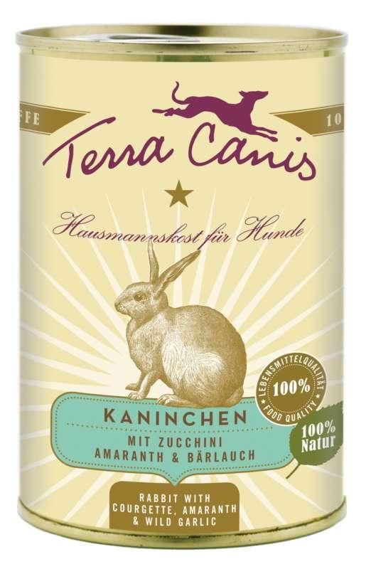 Terra Canis Menü Classic, Kaninchen mit Zucchini, Amaranth & Bärlauch 800 g