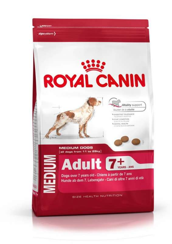 Royal Canin Size Health Nutrition Medium Adult 7+ 3182550774550 kokemuksia
