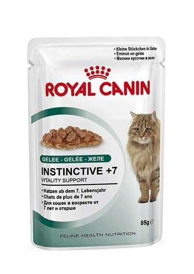 Royal Canin Feline Health Nutrition - Instinctive +7 i Gelé 85 g kjøp billig med rabatt