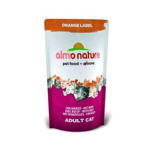 Orange Label Dry with Beef by Almo Nature 105 g, 750 g buy online