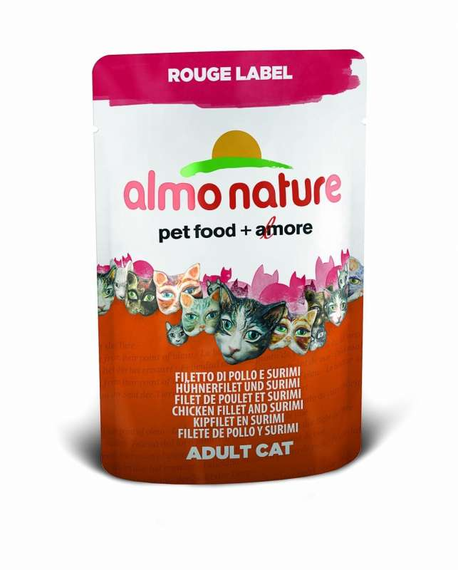 Almo Nature Rouge Label Pollo y Surimi 55 g