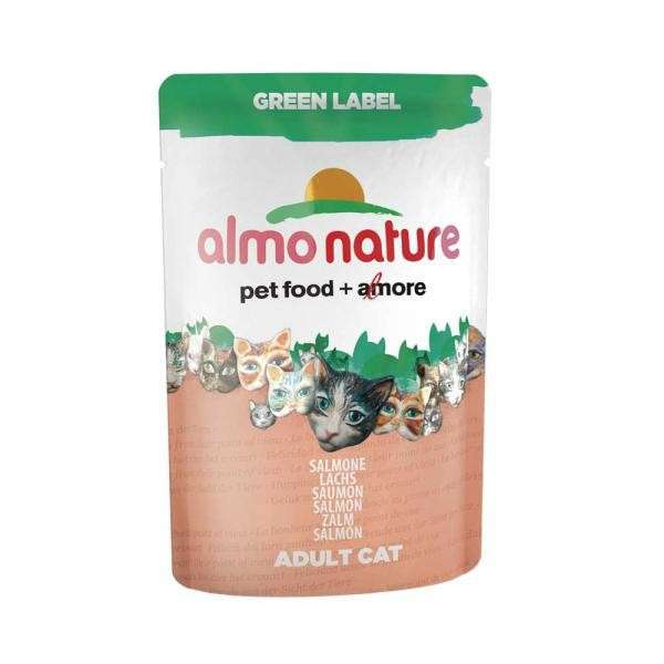 Almo Nature Green Label Wet Salmon 55 g