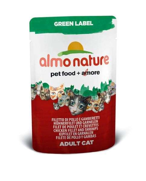 Almo Nature Green Label Wet Chicken fillet and Shrimp EAN: 8001154123241 reviews