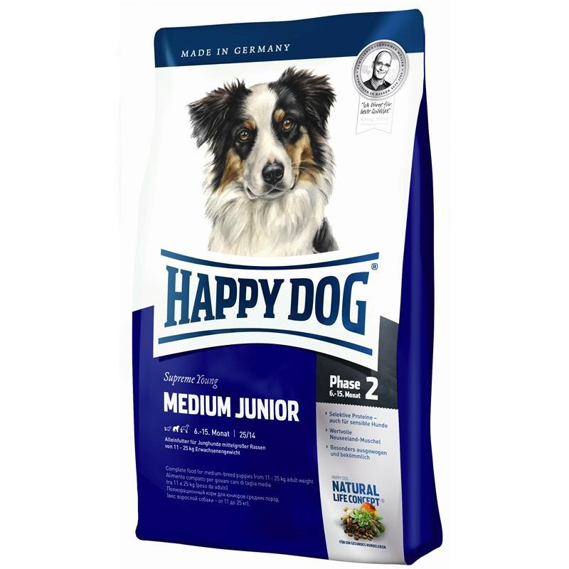 Happy Dog Supreme Young Medium Junior 4 kg, 300 g, 10 kg, 1 kg
