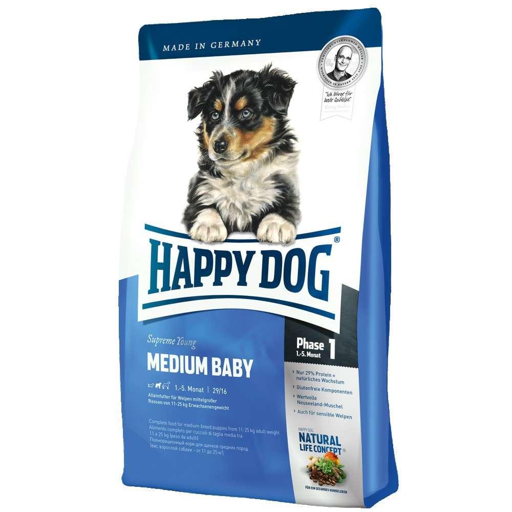 Happy Dog Supreme Medium Baby 1 kg, 10 kg, 300 g, 4 kg