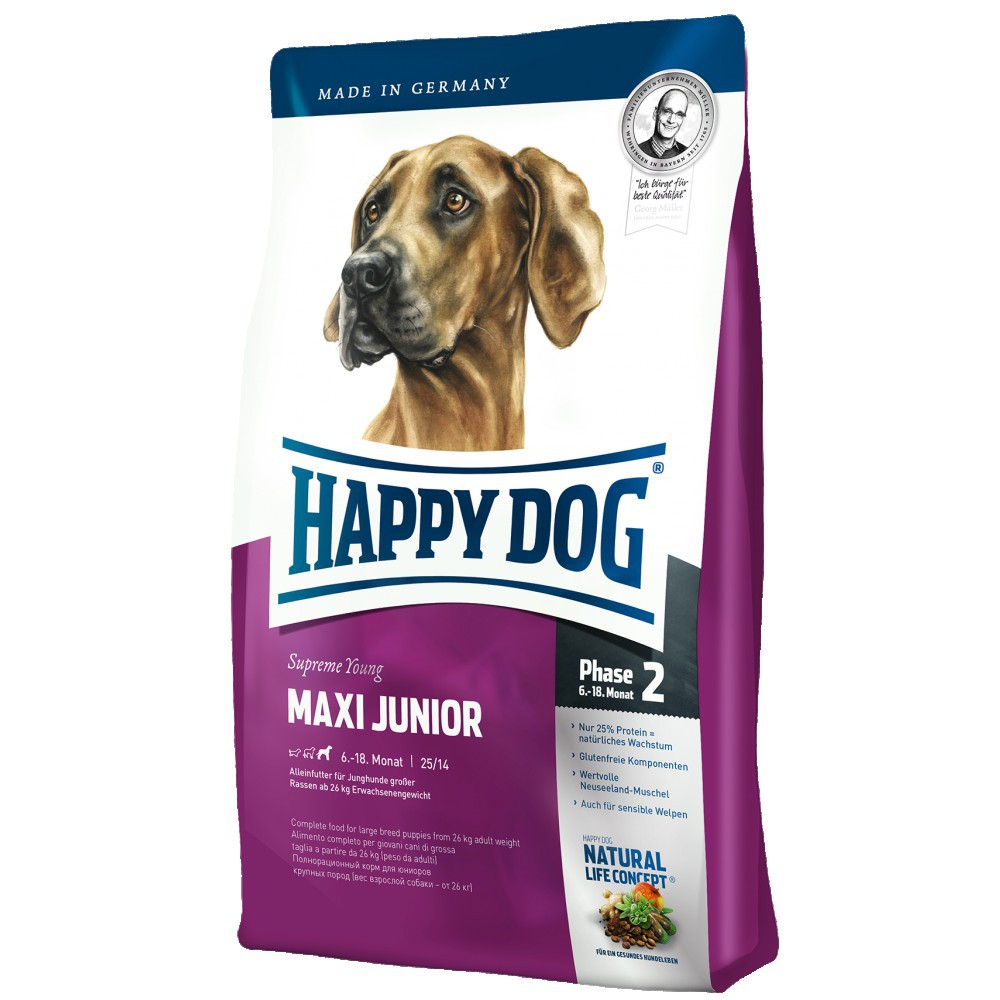 Happy Dog Supreme Maxi Junior 4 kg, 300 g, 15 kg, 1 kg