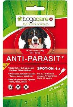 Bogacare Anti-Parasit Spot-on dog Maxi 4x2.5 ml  kjøp billig med rabatt