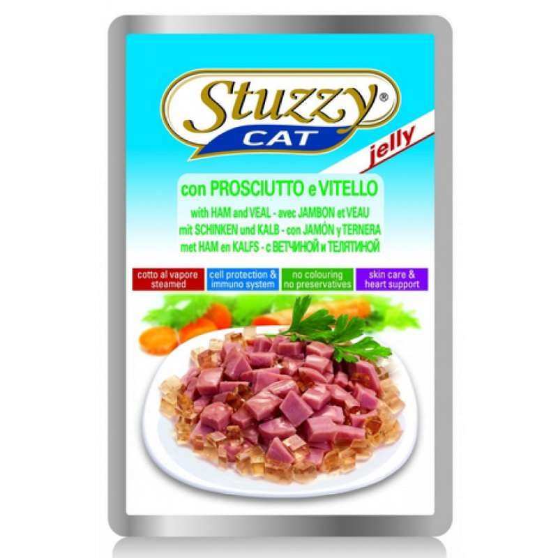 Stuzzy Cat Jelly Ham & Veal EAN: 8005852247315 reviews