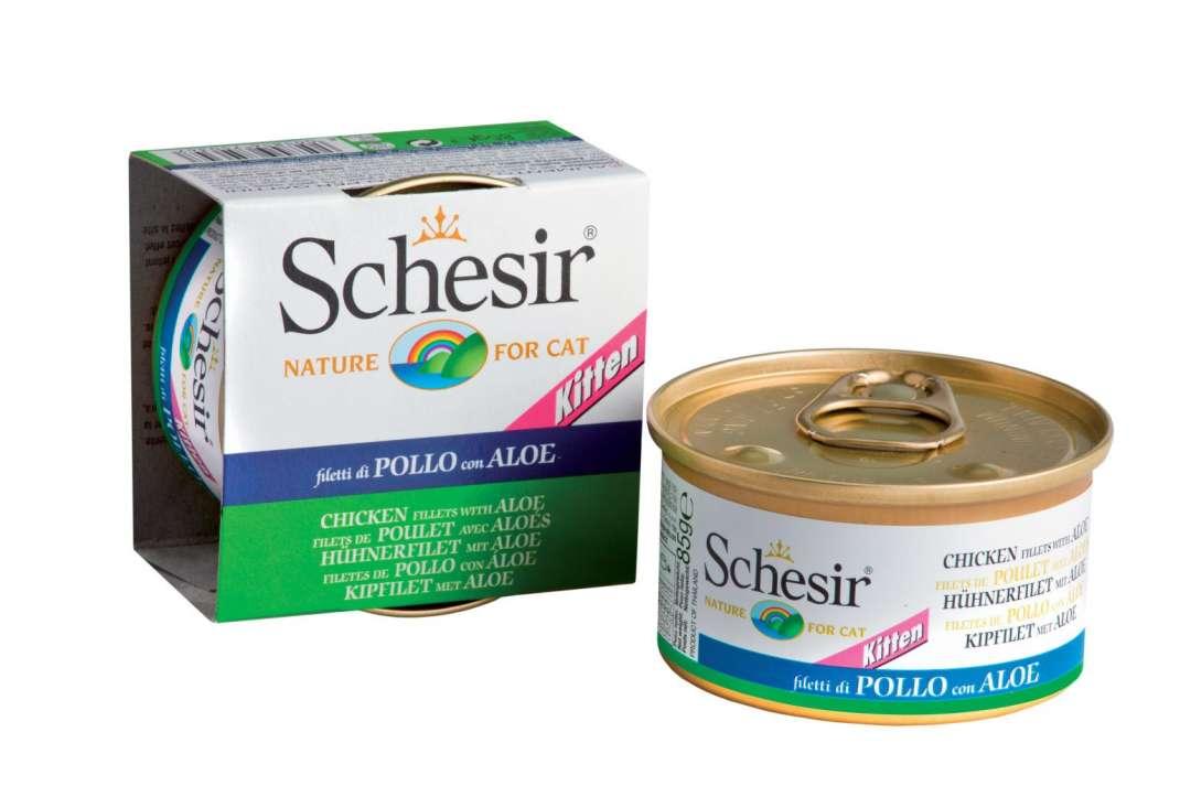 Schesir Kitten Kipfilet met Aloe 85 g 8005856750347