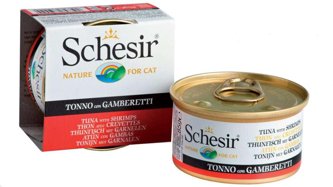 Schesir Cat Línea Jelly Atún con Camarónes 85 g prueba