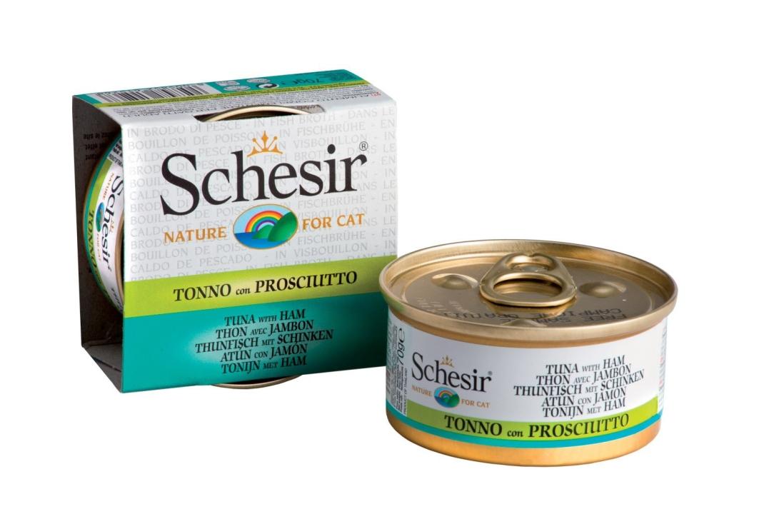 Schesir Cat Tuna with Ham in Broth 70 g