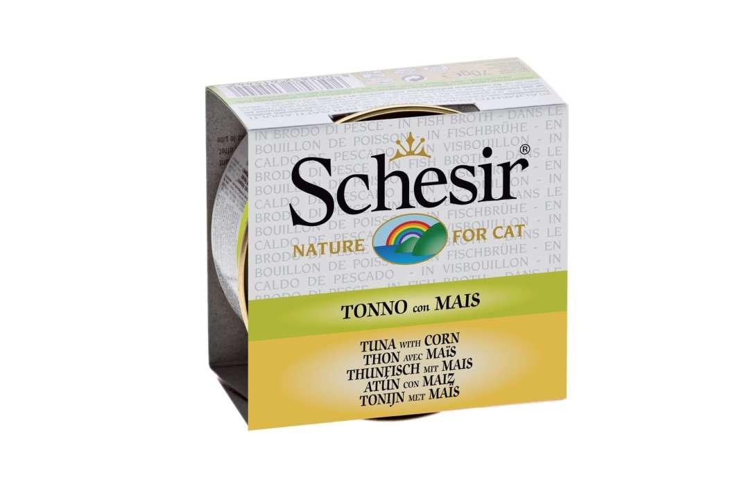 Natvoer  Bouillon Tonijn met Maïs Tuna & Corn  70 g van Schesir met korting aantrekkelijk en goedkoop kopen