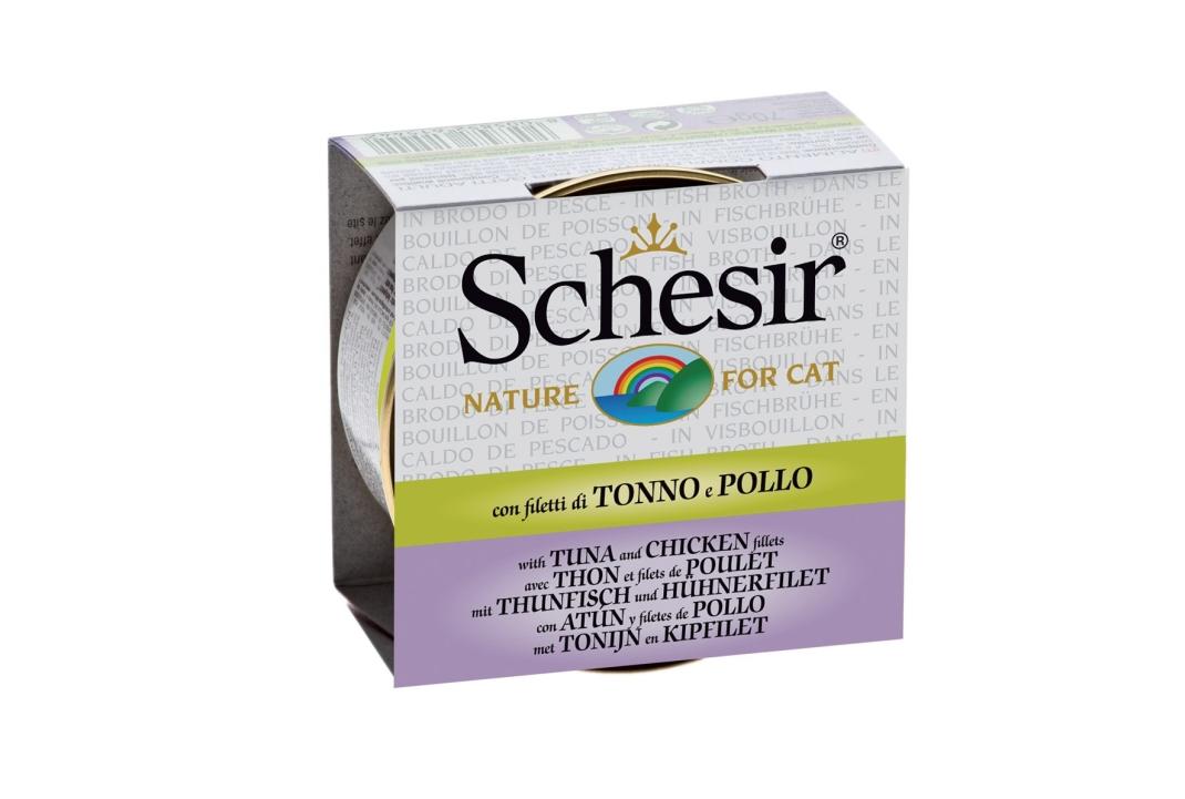 Schesir Cat Brühe Thunfisch mit Hühnerfilet 70 g