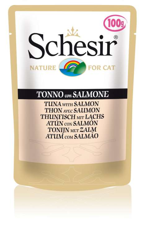 Schesir Cat Pouch Tuna with Salmon 100 g